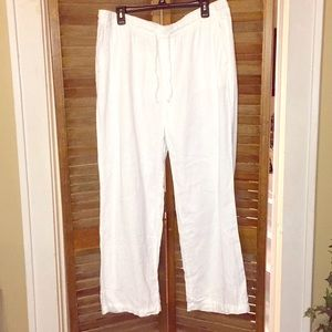 Old Navy White Linen Pants